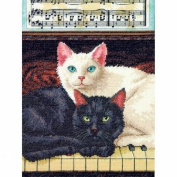 Dimensions 70-35269 Ebony And Ivory Counted Cross Stitch Kit-9X12 14 Count