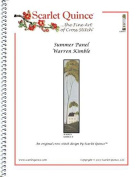 Scarlet Quince KIM003 Summer Panel by Warren Kimble Counted Cross Stitch Chart, Regular Size Symbols