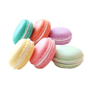 Pack of 6 Colourful Mini Macaron Shape Storage Box Candy Jewellery Organiser Pill Case Container by Blovess