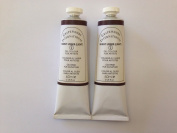 Burnt umber light,extrafine oil paints(two handmade oil colour tubes 60ml each).