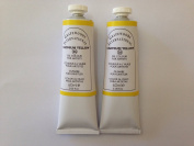 Cadmium yellow,extrafine oil paints(two handmade oil colour tubes 60ml each).