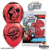 Marvels Avengers Assemble Red 30cm Qualatex Latex Balloons x 6