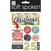 Soft Spoken Themed Embellishments-Be Merry