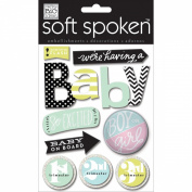 Soft Spoken Themed Embellishments-News Flash - Baby