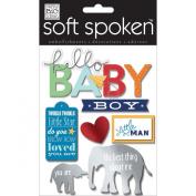 Soft Spoken Themed Embellishments-Little Man Baby Boy