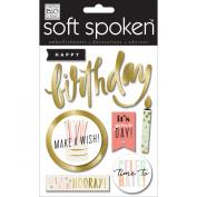Soft Spoken Themed Embellishments-Hooray Birthday