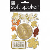 Soft Spoken Themed Embellishments-Fall Grateful