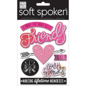 Soft Spoken Themed Embellishments-I Have The Very Best Friends