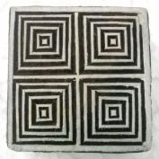 Square Spiral design wooden block stamp/ Tattoo/ Indian Textile Printing Block