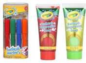 Crayola Bathtub Markers 4 count + Crayola Bathtub Fingerpaint Soap 2 ct