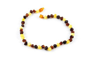 Healing Hazel 100% Balticamber Baby Necklace, Multi Polished, 27cm