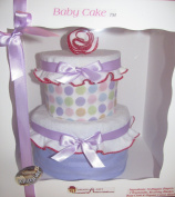 Create-A-Gift Simply Sweet Baby Cake, Pink/Purple
