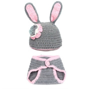 FEITONG(TM) Baby Girls Boy Newborn 0-9 Month Knit Crochet Minnie Clothes Photo Prop Outfits