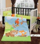 "Limited Edition ""Baby Forest (Bear, Fox & Squirl) Crib Bedding Set"