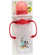 "Disney ""Hiding Mickey"" Feeding Bottle with Handles - red, one size"
