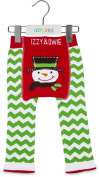 Red and Green Snowman 6-12 Month Baby Leggings