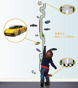 Grand Prix Circuit Sedan Cars Height Measurement Chart (0-170)wall Decal Removable Wall Stickers for Kids Room Decor