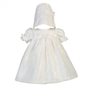 Lito Baby Girls White Lace Tulle Melissa Christening Easter Hat Dress Set 0-18M