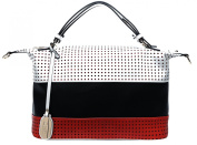 Authentic BRANGIO (Italy) Triple Tone Slouchy Tote with Adjustable Shoulder Strap: