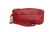 Ashlin Genuine Leather Compact Wristlet, Red