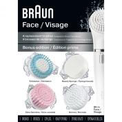 Braun Face 80-M Bonus Edition Facial Cleansing Refills, 4 Count