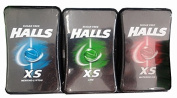 Halls XS 15g.Cough Drops Free candy 3 flavoured