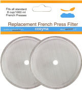 Cozyna Universal Replacement French Press Filter Mesh Screen - 8 Cup (1000 Ml) French Press - Design Fits All Major Brands Such As Bodum, Frieling and Other. Set of 2.