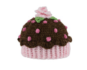 San Diego Hat Company Chenille Cupcake Hat, Brown, 0-6 Months