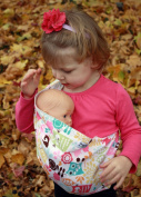 Snuggy Baby Child's Doll Sling Baby Doll Carrier -Woodland Owls