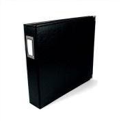 We R Memory Keepers Classic Leather 3-Ring Album - 22cm x 28cm , Black