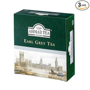 3 Boxes of Ahmad Earl Grey Tea 100 Tagged Tea Bags Each