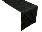 ArtOFabric 30cm x 180cm Fancy Pintuck Table Top Runner - Black