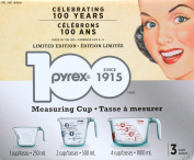 Pyrex 3 Measuring Cups 1,24Cups Limited Edition 996093
