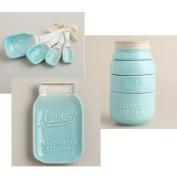 Mason Jar Ceramic Kitchenware 3 Piece Set