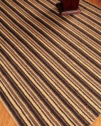 """Basilica"" Jute/Cotton Rug Hand Woven - Natural Fibre 2.4m x 3m"