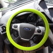 OHF Steering Wheel Cover Auto Car Silicone Universal Steering Cover for Diameter 36-38cm/14-15inch