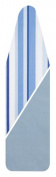 Household Essentials Reversible Ironing Board Pad & Cover, Caribbean Blue Strip & Baby Blue