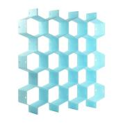 KLOUD City ® Household Light Blue Plastic Partition Bee Style Underwear Socks Bras Ties Belts Scarves Drawer Divider Cabinet Clapboard
