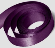 Double Face Satin Ribbon PLUM (Eggplant) 100% Polyester 1.6cm x 5 yards