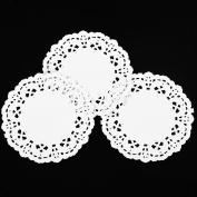 W8sunjs Round Paper Lace Doilies 8.9cm Pack Of 250 Pcs