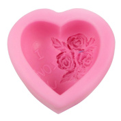 Guluote Rose Decoration Heart Craft Mould Art Silicone DIY Handmade Soap Moulds