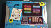 Art 101 Doodle Draw & Sketch 82 Piece Supply Set