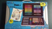 Art 101 Doodle Draw & Sketch 82 Piece Supply Set