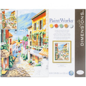 Dimensions Crafts 73-91466 Paint Works Paint by Number Kit, Village