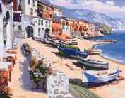 Greek Art Paintworks Paint Colour By Number,Coastal Scenery,41cm by 50cm