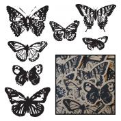 Maya Road Kraft Die-Cuts, Vintage Butterflies, Black, 14-Pack