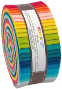 Kona Cotton Elizabeth Hartman Designer Palette Roll Up 40 Strips 6.4cm Jelly Roll Robert Kaufman Fabrics RU-340-40