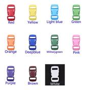 110pcs 1cm Colourful Contoured Side Release Buckles for Paracord Bracelet 11 Colours