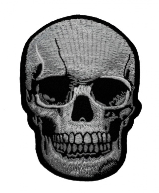 Realistic Skull Dead Biker Horror Goth Punk Emo Rock DIY Applique Embroidered Sew Iron on Patch SK-003