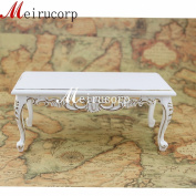 1:6 Scale Dolls Barbie Miniature Furniture Handmade White Beautiful Tea Table